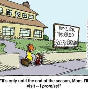 soccer parent cartoon