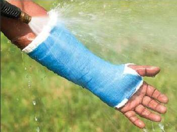 waterproof cast