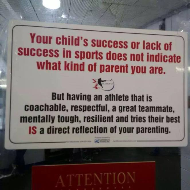 Athlete Reflects Parent